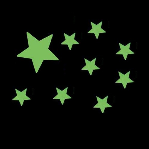 Glow Stars For Ceiling: Stick On Ceiling Pack Of 9